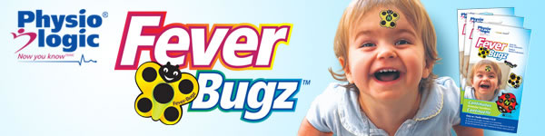 Fever-Bugz stick-on fever indicators allow you to monitor your children's fever or temperature continuously at a glance.