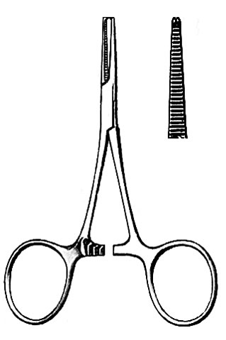 Hartmann Mosquito Forceps, Straight, 3 1/2 inch (8 9 cm
