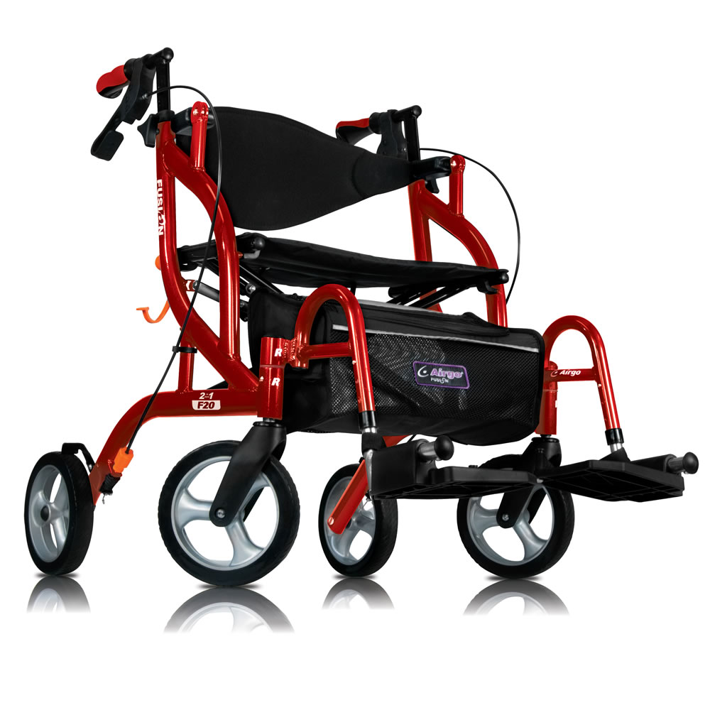Airgo 174 Fusion Side Folding Rollator Amp Transport Chair