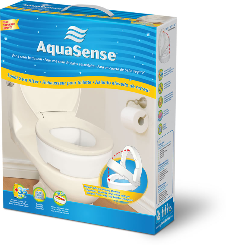 Toilet Seat Riser With Hinge By Aquasense 174 For
