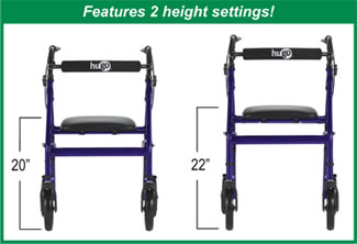 Features 2 height settings